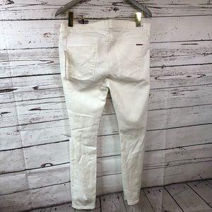 Hudson Jeans Jeans - Hudson Nico Midrise White Jeans Super Skinny